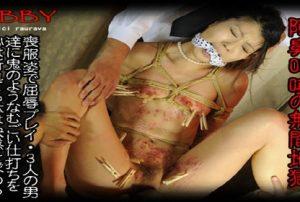 ABBY PPV001 300x202 - [ABBY PPV001] 喪服姿で受ける屈辱プレイ、極限までいたぶられ絶頂の快感を得る あおい Bondage
